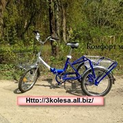 Велосипед трехколесный КОМФОРТ-МИНИ синий фото