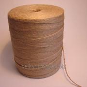 Шпагат джутовый ШД 1,2 ктекс,П2,полированный,рулон 1,5 кг. фото