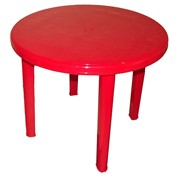 Стол круглый красный фото