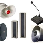 Громкоговорители рупорные, потолочные, колонки, усилители, микрофоны, мегафоны, конференц системы, прибор громкой связи и т.д. фото