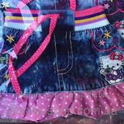 Детская джинсовая юбка Китти на 1-4 года, код товара 254132194 фото