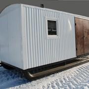 Мобильные здания вагон-дома на санях фото