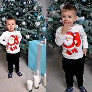 Новогодний детский свитшот, расцветки фото