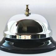 Колокольчик настольный Механический звонок для ресепшн, ресторана, кафе, бара, отеля фото