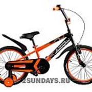 Двухколесный велосипед Lamborghini Strada 18 дюймов оранжевый фото