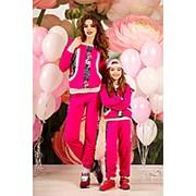 Спортивные костюмы для мамы и дочки с цветочным орнаментом (3 расцветки) фото