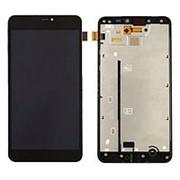 Дисплей для Nokia 640 XL в сборе с тачскрином на рамке (Black) фото