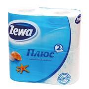 Туалетная бумага Zeva Plus 2-х слойная Свежесть океана фото