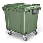 Мусорный контейнер для ТБО 1100 л зеленый фото