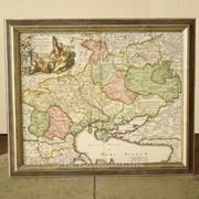 Рамка для карты на холсте Багет №68 фото