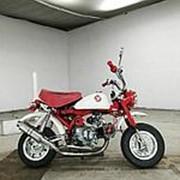 Мопед мокик Honda Monkey рама Z50J гв 1997 тюнинг пробег 1 т.км белый красный фото