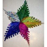 Новогодняя звезда разноцветная фото