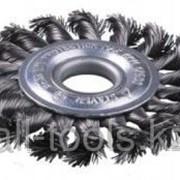 Щетка Зубр Эксперт дисковая для УШМ, плетеные пучки стальной проволоки 0,5мм, 100мм/22мм Код:35190-100_z01 фото