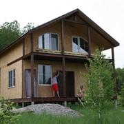 Дома из конструкционных теплоизоляционных плит. Экопан фото