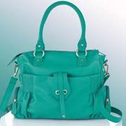 Кожаная сумка изумрудная EMMA&JADE фото