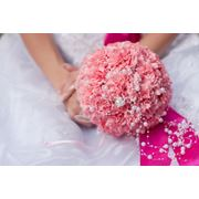 Букет невесты из гвоздики с плетением фото