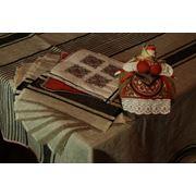 Льняная скатерть ручной работы фото