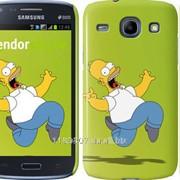 Чехол на Samsung Galaxy Core i8262 Гомер на зелёном фоне 654c-88 фото