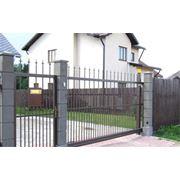Ворота металлические под заказ фото