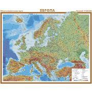 Настенная физическая карта Европа. фото