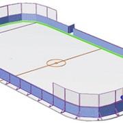 Строительство хоккейных площадок фото