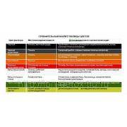 Таблица цветов для сравнительного анализа, ламинированная фото