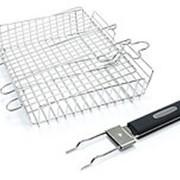 Решетка для гриля со съемной ручкой фото