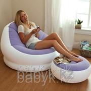 Надувное стильное кресло cafe chaise chair 68572 c пуфиком(104*109*69см) фото