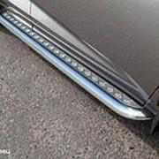 Пороги Lexus NX 300/300h/200/200t 2014-наст.время (с площадкой 75х42 мм) фото