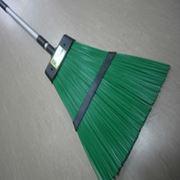 Метла уличная ПВХ зеленаяскладная ручка фото