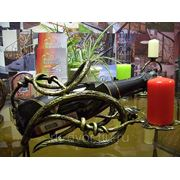 Бутылочница со свечой фото