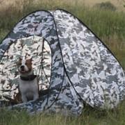 Палатка автомат ЕМ 2х2м серый камуфляж дно отстегивается фото