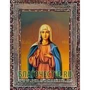 Благовещенская икона Ника (Вероника), святая мученица, копия старой иконы, печать на дереве Высота иконы 11 см фото