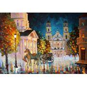 Живопись на холсте Площадь у ратуши Минск фото