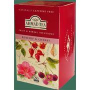 Чай травяной Шиповник и вишня фото
