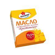 """Масло сладко-сливочное """"Крестьянское"""" несоленое с м.д. жира 725% фото"""
