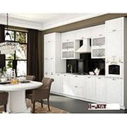 Угловой кухонный гарнитур Модена белая фото