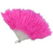 Веер из перьев розовый фото