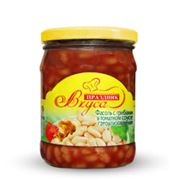 Фасоль с грибами в томатном соусе фото