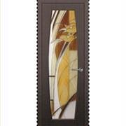 Межкомнатные двери с цветным стеклом фото