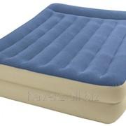 Двухспальный надувной матрас Intex 66714 - 152х203х47см, синий фото