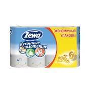 Полотенца бумажные Zewa , 2-слойные, белые, с тиснением , 4шт/уп фото