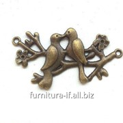 Декор птички металлические, код G020 фото