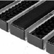 Грязезащитные придверные решётки Step резиновые + текстиль 390×590 фото