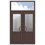 Двери входные металлопластиковые, алюминиевые фото