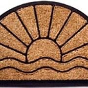 Коврик овальный для прихожей из кокосового волокна фото