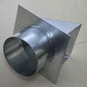 Фасадная решетка приточного воздуха, оцинковка диам. 100мм фото