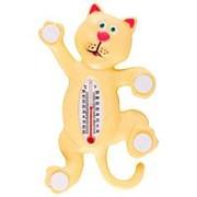 Термометр оконный на липучках - Котик фото