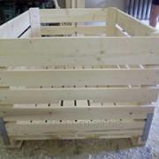 Контейнер деревянный для хранения яблок фото