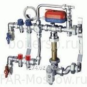 Сборный регулирующий узел для напольного отопления, 2 отвода, с сервоприводом, отводы М24х19, артикул FK 3491 C10210 фото